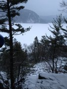 Rock Climbing Photo: View looking back at the lake, from near the Hangm...