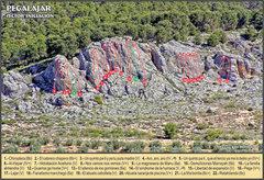 Topo of Iniciación sector at Pegalajar.