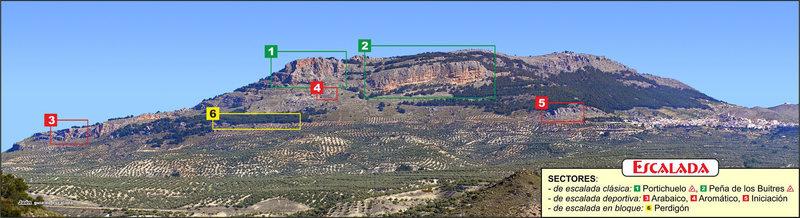 Rock Climbing Photo: Location of sectors at Pegalajar.