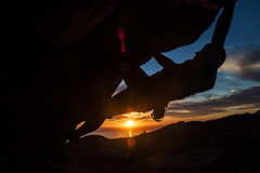 Rock Climbing Photo: Unknown climber screwing around for some cool phot...