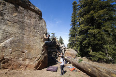 Rock Climbing Photo: A bit taller than he expected!