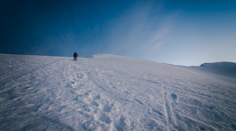 Rock Climbing Photo: Now we can see where we're going. Hit the summit m...