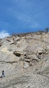 Rock Climbing Photo: A view from closer to the road of the wall. My par...