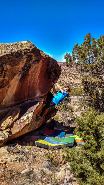 Rock Climbing Photo: Pulling up to the slopers at the lip of Element of...