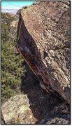 Rock Climbing Photo: Cicatrix problem beta. Difficult getting a decent ...