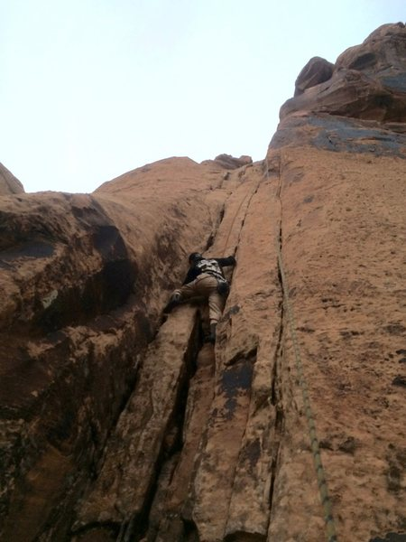 Rock Climbing Photo: Nice set of bolts on the right in the visible notc...