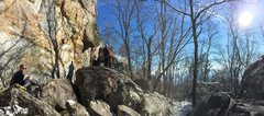 Rock Climbing Photo: Misty in the Winter