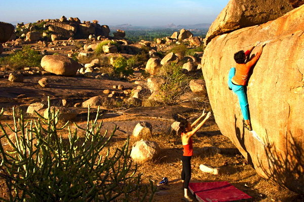Rock Climbing Photo: Hampi bouldering