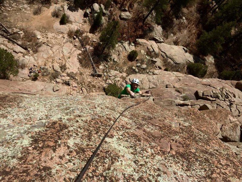 Rock Climbing Photo: dinner plate mantling