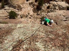 Rock Climbing Photo: TED dinner plate mantling 2