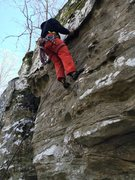 Rock Climbing Photo: Going at it.