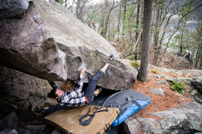 Rock Climbing Photo: Kyle testing out the finish sequence