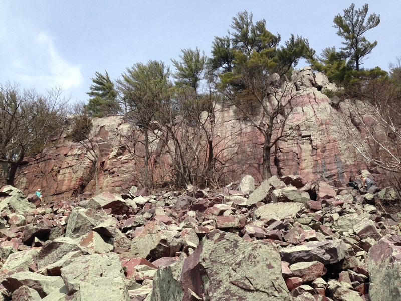 Crag under Balanced Rock in Devils Lake Wisconsin