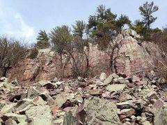 Crag under Balanced Rock in Devils Lake Wisconsin