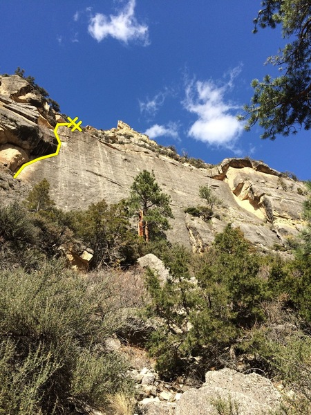 Rock Climbing Photo: Junior's Route