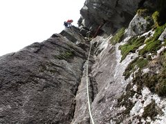 Rock Climbing Photo: Chimney on Pitch 1 of Lovin' Arms. It's better cli...
