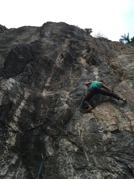 Rock Climbing Photo: Josh Clarke exiting the boulder problem with style...