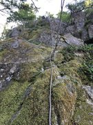 Rock Climbing Photo: From the bottom of the pillar. Pretty mossy, but t...