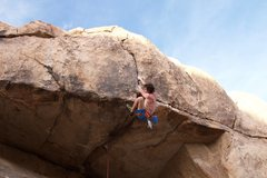 Rock Climbing Photo: Pulling the lip. Don't bother with a knee bar, jus...