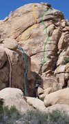 Rock Climbing Photo: Left side of the alcove on the south face of Jelly...