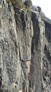 Rock Climbing Photo: Left side. Some reasonably-safe looking rock highe...