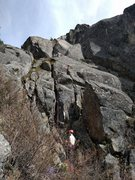 Rock Climbing Photo: Prime Rib climbers on 1st pitch.