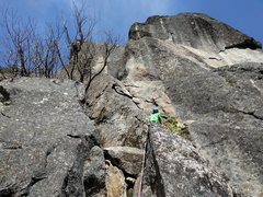 Rock Climbing Photo: Starting up West Crack