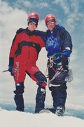 Rock Climbing Photo: Eric R. and I on the summit of Mt. Adams - June 19...