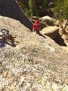 Rock Climbing Photo: Ryan emery nearing he anchor on solo system