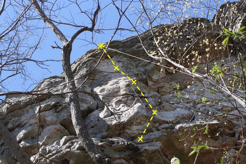 Rock Climbing Photo: Last 4 bolts + Anchors of RIP