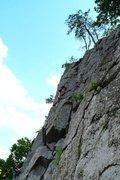 Rock Climbing Photo: Jeffrey on Photo-Op Arete, August 1, 2015