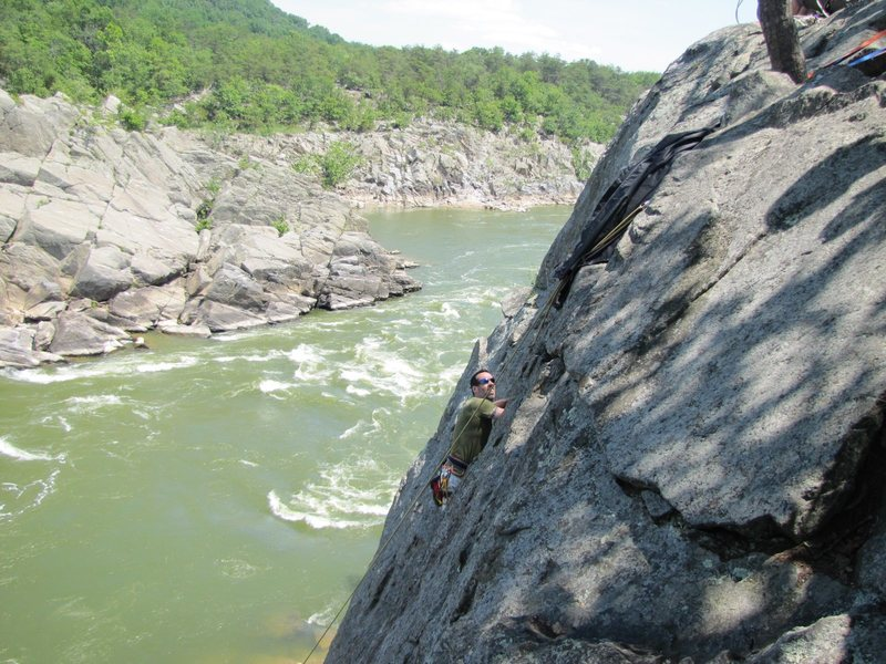 Rock Climbing Photo: Jeffrey at the top of Photo-op Arete