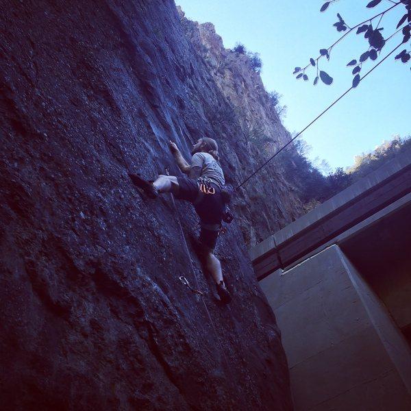 Rock Climbing Photo: Redpointing danger boy on my birthday