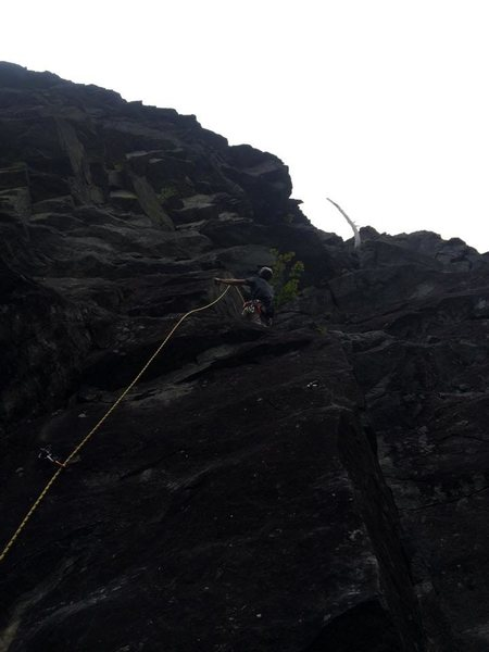 Rock Climbing Photo: The snag on the right can be used to locate the pi...