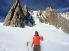 Rock Climbing Photo: Chamonix.. Petit & Grand Capucin in the background