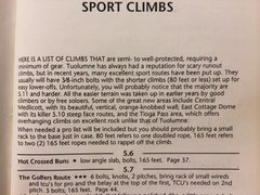 Rock Climbing Photo: Intro to the list of sport climbs from the '92 Tuo...
