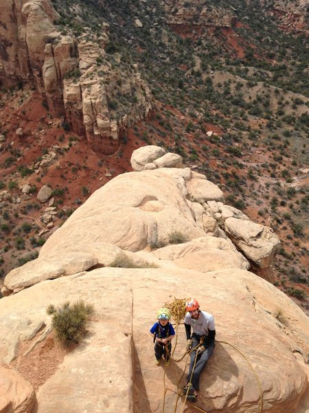 Rock Climbing Photo: Bayes and Matt at Lunch Box Ledge while I lead pit...