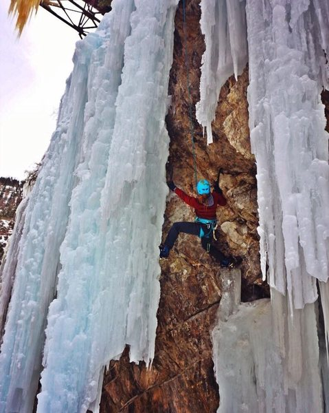 Mixed climbing in Ouray
