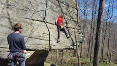 Rock Climbing Photo: Bottom of the Dagger. First 2 bolts are horizontal...