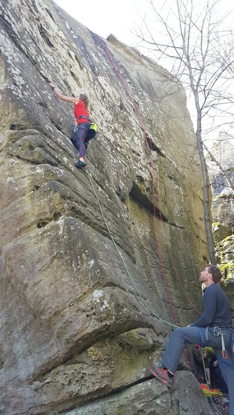 Rock Climbing Photo: I would argue this is a little tougher than a 5.6....