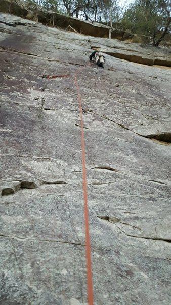 Rock Climbing Photo: Chris Sanders leading Winter's Respite