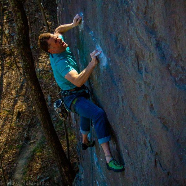 Rock Climbing Photo: Bennett Harris sticking the holds on Diamond Life