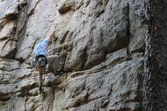 Rock Climbing Photo: Chris Sanders getting ready to make the clip on Th...