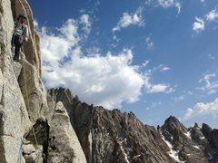 Rock Climbing Photo: Cotton Jon leading in the alpine...