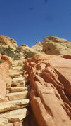 Rock Climbing Photo: 40m from this angle to the right you'll see the Ma...