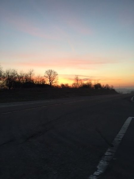 Sunrise headed towards Devils Lake