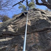 Rock Climbing Photo: Gregg B on freaky face at the Old Sandstone area. ...