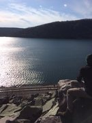 Rock Climbing Photo: Overlooking the lake from the East Bluff
