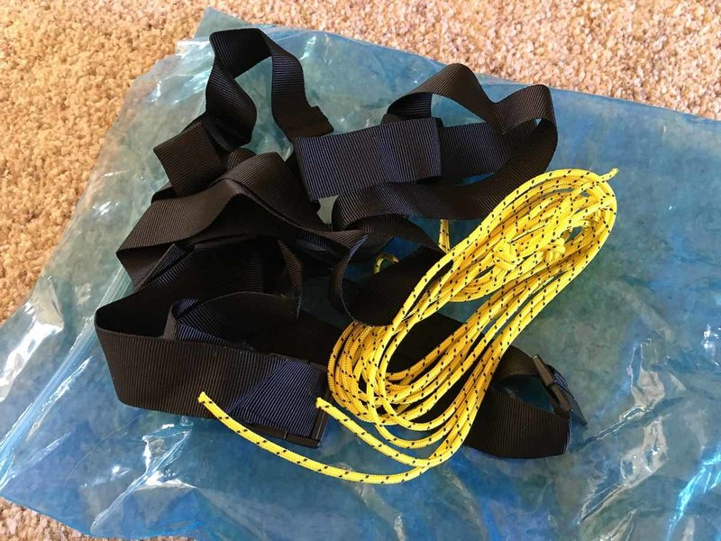 Katabatic Alsek 22 - pad cords and straps
