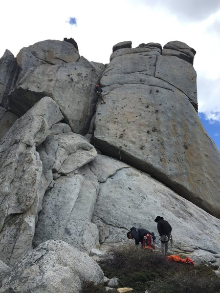 Rock Climbing Photo: Middle spire looking at the two candies